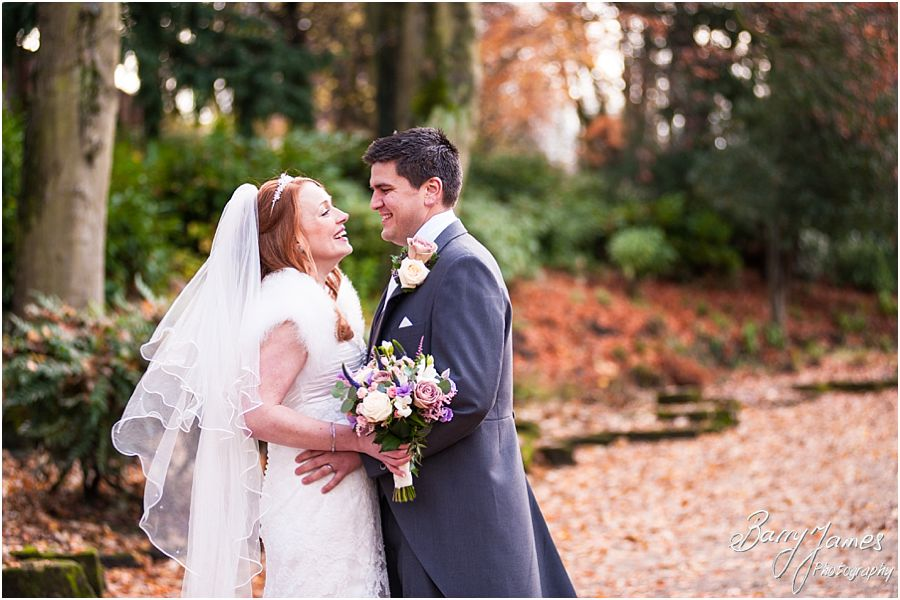 Beautiful contemporary autumn wedding photographs at Calderfields Golf and Country Club and Walsall Arboretum in Walsall by Award Winning Wedding Photographer Barry James