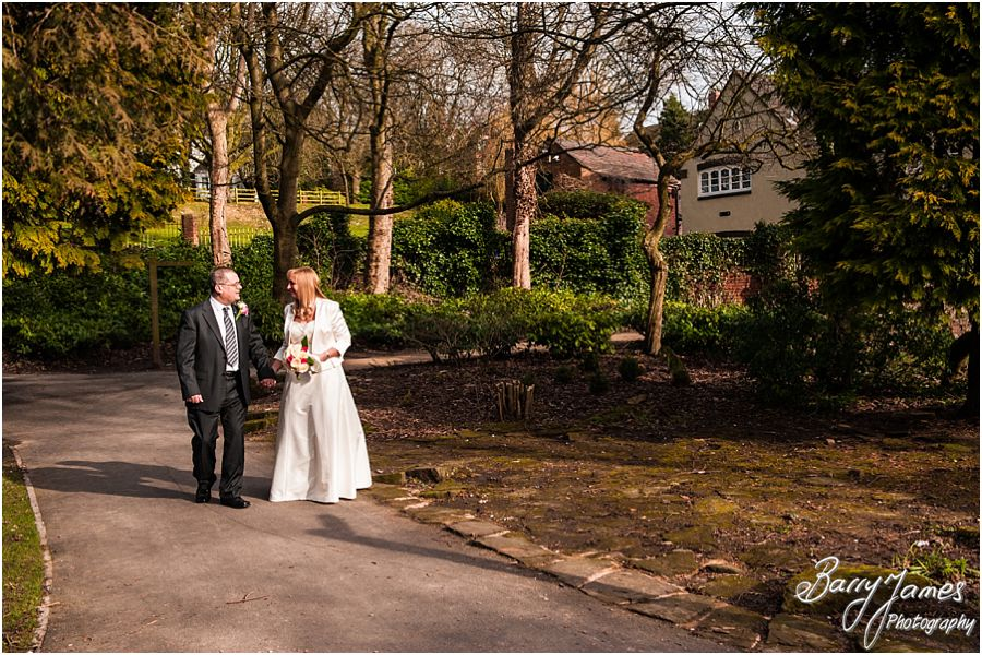 Creative modern wedding photos at Walsall Arboretum in Walsall by Award Winning Wedding Photographer Barry James
