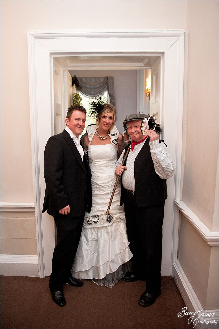 Chimney sweep at Somerford Hall in Brewood by Wolverhampton Wedding Photographer Barry James