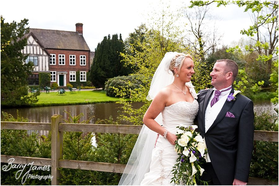 Reportage and contemporary wedding photographs at The Moat House in Acton Trussell by Master Wedding Photographer Barry James