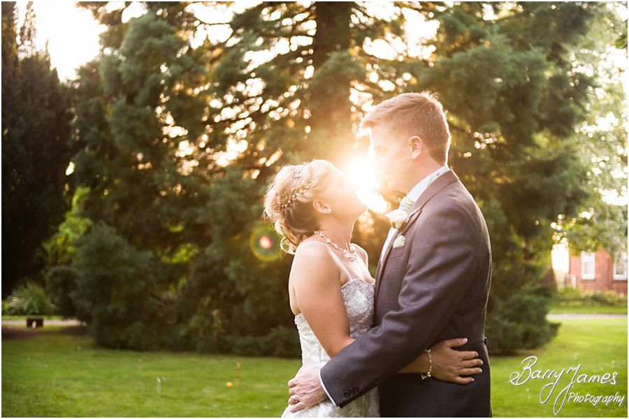 Beautiful evening portraits at Rodbaston Hall in Penkridge by Stafford Wedding Photographer Barry James