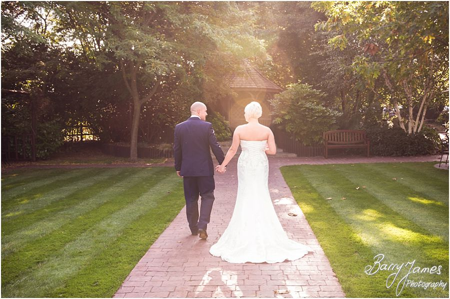 Utilising the stunning autumn light for timeless portraits at The Fairlawns in Walsall by Fairlawns Wedding Photographer Barry James