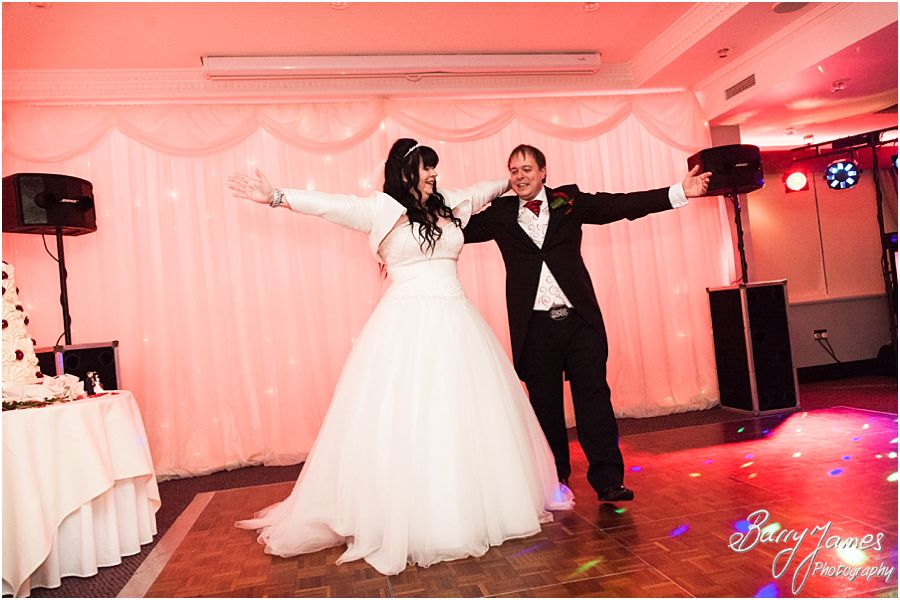 Creative un photos of the first dance at The Moat House in Acton Trussell by Cannock Wedding Photographer Barry James