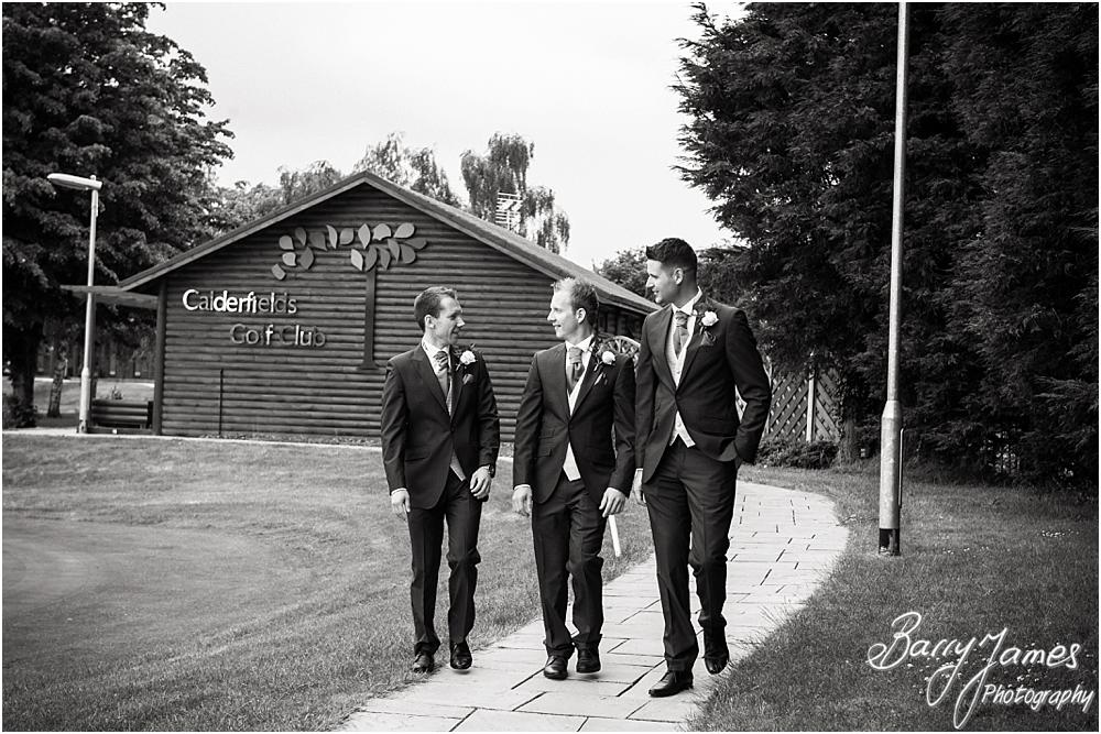 Creative relaxed photographs of the groomsmen at Calderfields in Walsall by Walsall Wedding Photographers Barry James