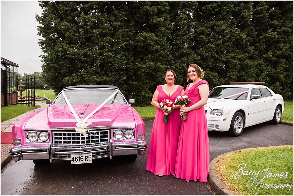 Contemporary photographs capturing the arrival of the bridal party at Calderfields in Walsall by Walsall Wedding Photographers Barry James