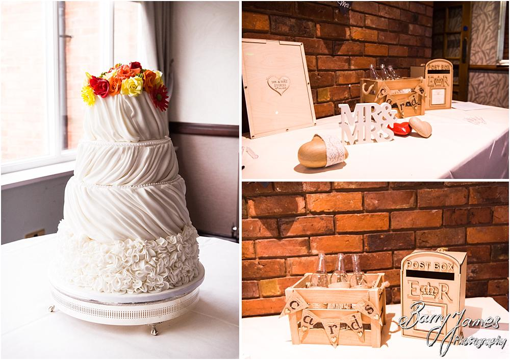 Beautiful venue decoration and styling from Design Elegance for this wedding at The Moat House in Staffordshire by Stafford Wedding Photographer Barry James