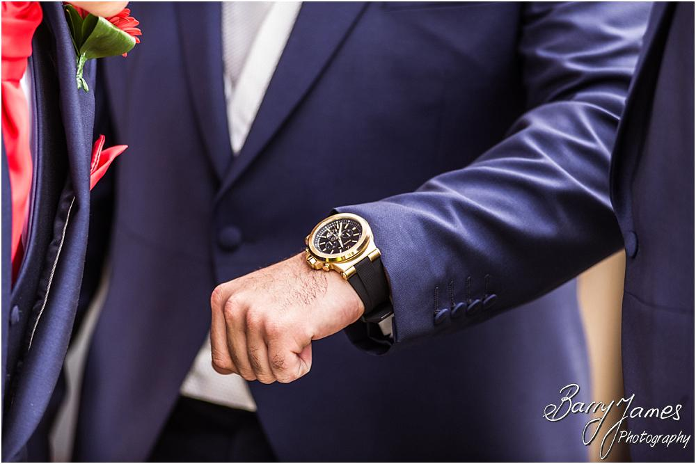 Creative photographs of the groom and ushers at The Moat House in The Moat House in Staffordshire by Stafford Wedding Photographer Barry James