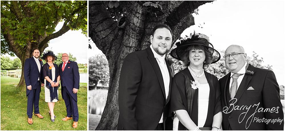 Relaxed family photographs at The Moat House in Staffordshire by Stafford Wedding Photographer Barry James