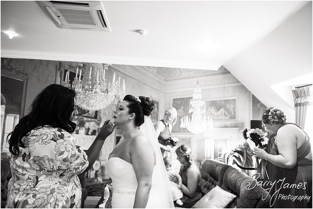 Candid photographs of the bridal preparations at The Moat House in Staffordshire by Stafford Wedding Photographer Barry James