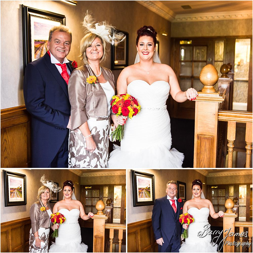Contemporary photographs of the bridal party ahead of the ceremony at The Moat House in Staffordshire by Stafford Wedding Photographer Barry James