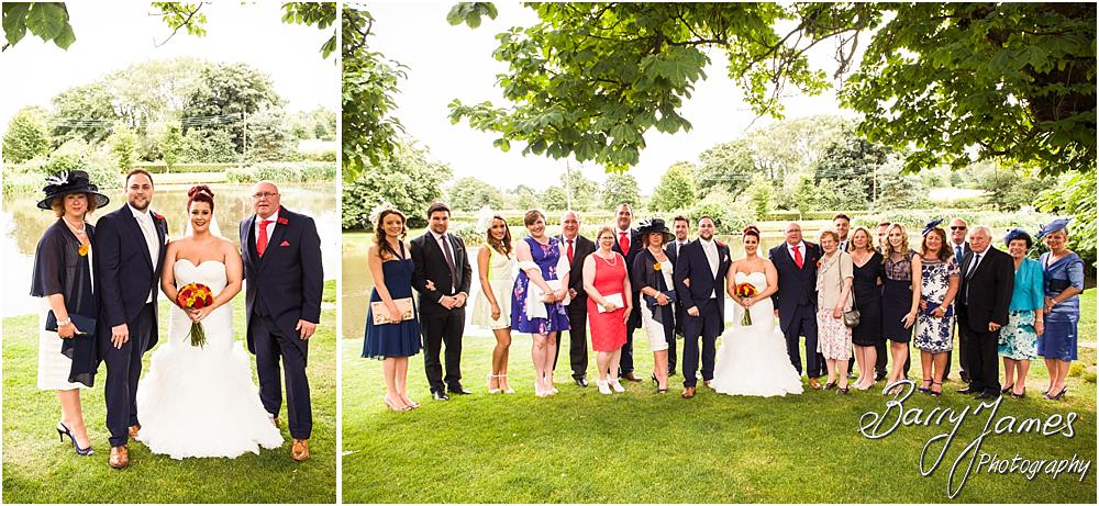 Natural family group photographs on the lawn at The Moat House in Staffordshire by Stafford Wedding Photographer Barry James