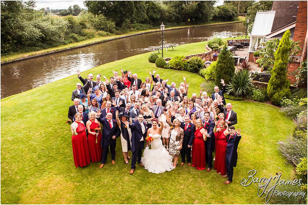 Family group photographs on the canalside at The Moat House in Staffordshire by Stafford Wedding Photographer Barry James