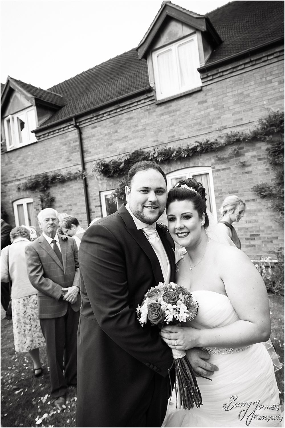 Confetti fun at The Moat House in Staffordshire by Stafford Wedding Photographer Barry James