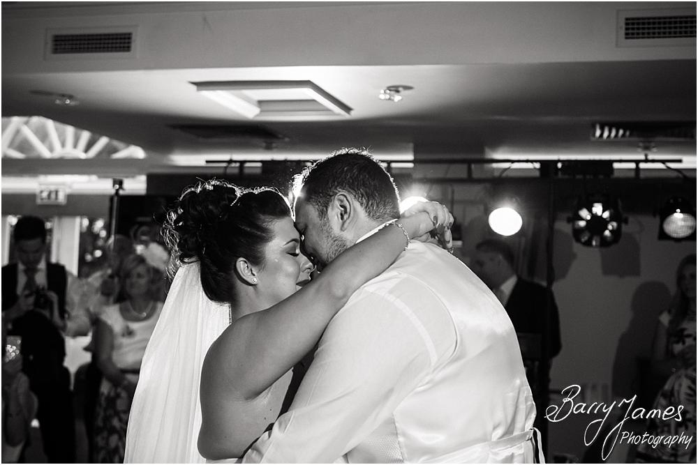 Creative candid photographs of the first dance at The Moat House in Staffordshire by Stafford Wedding Photographer Barry James