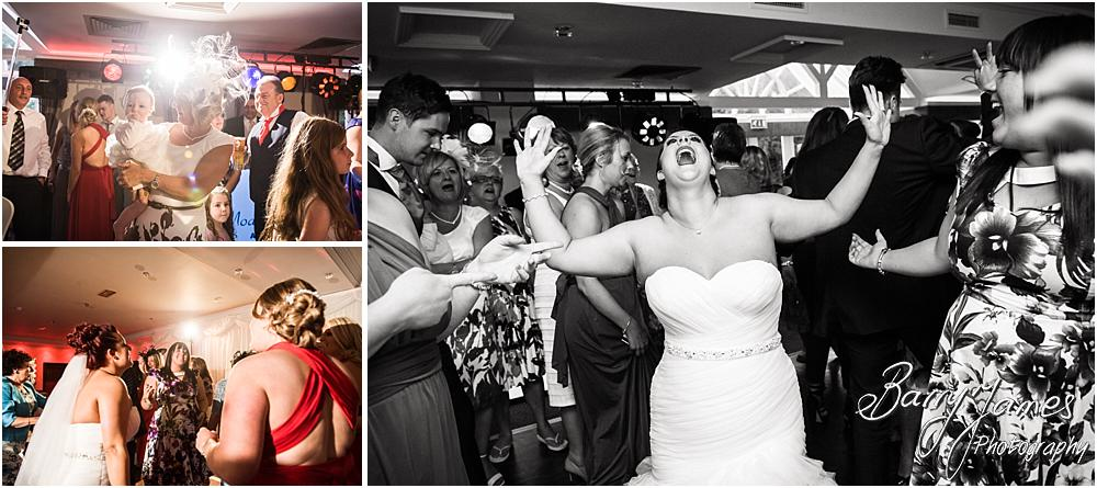 Candid photographs capturing the fun of the evening reception at The Moat House in Staffordshire by Stafford Wedding Photographer Barry James