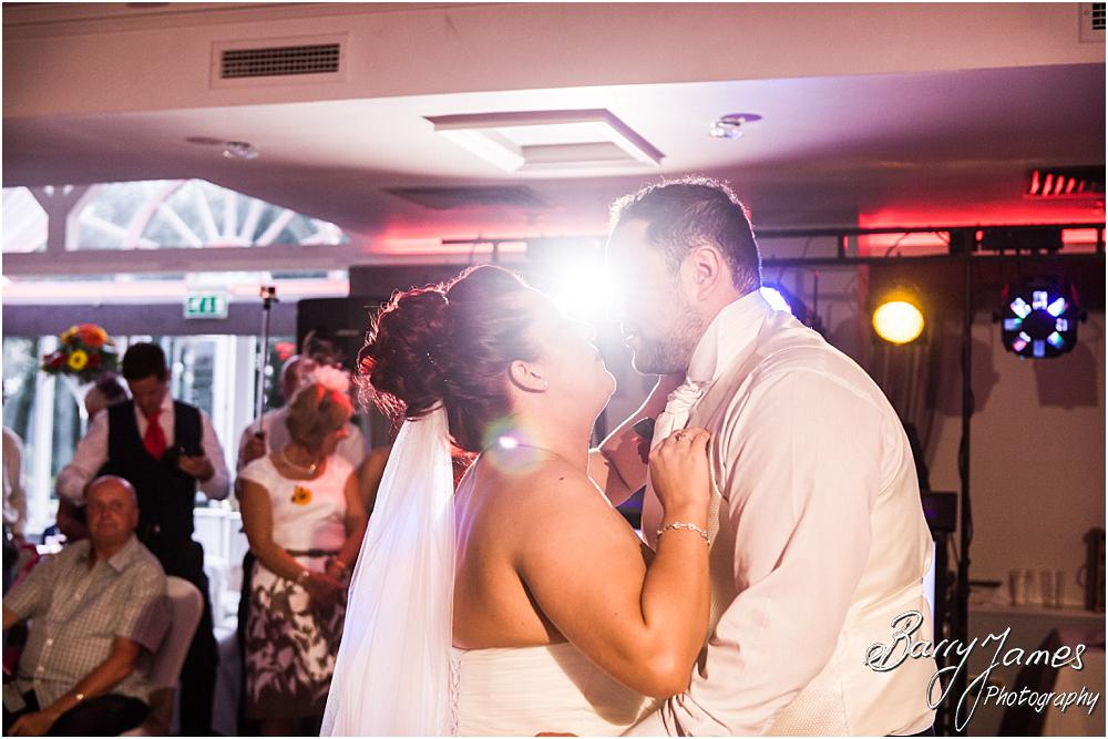 Creative and beautiful evening portraits from the dancefloor at The Moat House in Staffordshire by Stafford Wedding Photographer Barry James