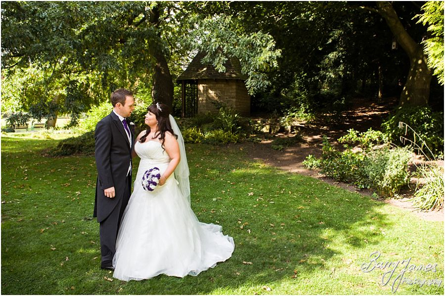 Relaxed natural photographs on the wedding day at Walsall Arboretum in Walsall by Walsall Wedding Photographer Barry James