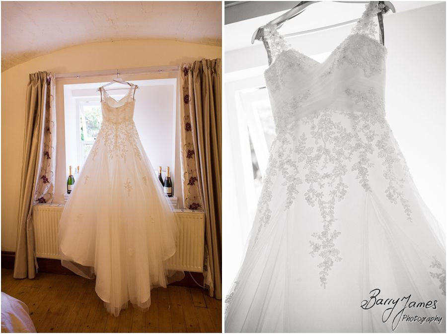 Beautiful bridal gown and stunning details for the wedding at Hawkesyard Estate in Rugeley by Rugeley Wedding Photographer Barry James