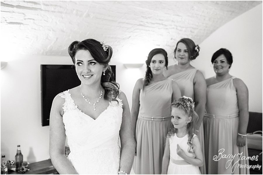 Relaxed photographs of the bridal preparations before the ceremony at Hawkesyard Estate in Rugeley by Rugeley Wedding Photographer Barry James