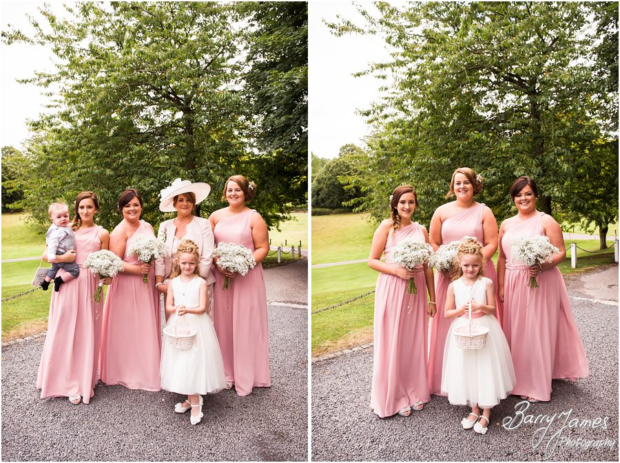 Contemporary portraits of the bridal party at Hawkesyard Estate in Rugeley by Rugeley Wedding Photographer Barry James
