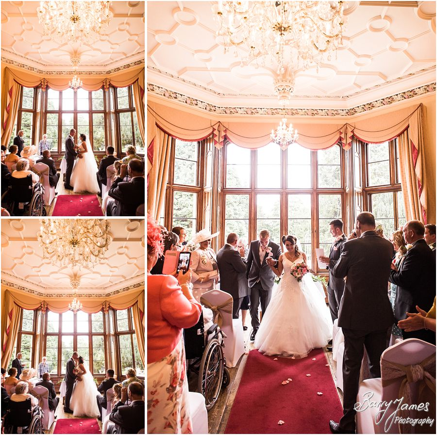 Creative contemporary photos capturing the emotion and story of the wedding ceremony at Hawkesyard Estate in Rugeley by Rugeley Wedding Photographer Barry James
