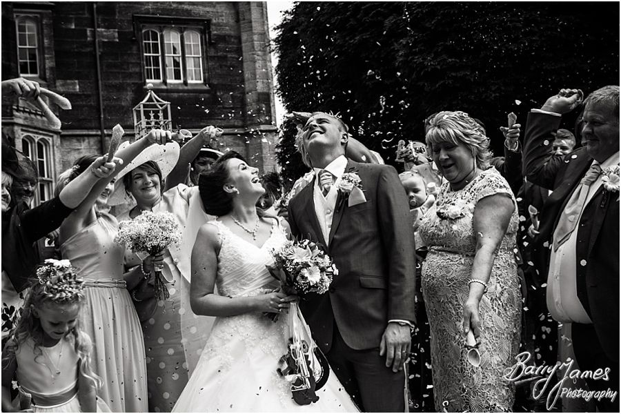 Fun wedding photographs at Hawkesyard Estate in Rugeley by Rugeley Wedding Photographer Barry James