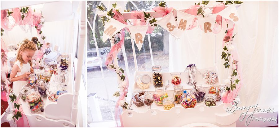 Candy cart at Hawkesyard Estate in Rugeley by Rugeley Wedding Photographer Barry James