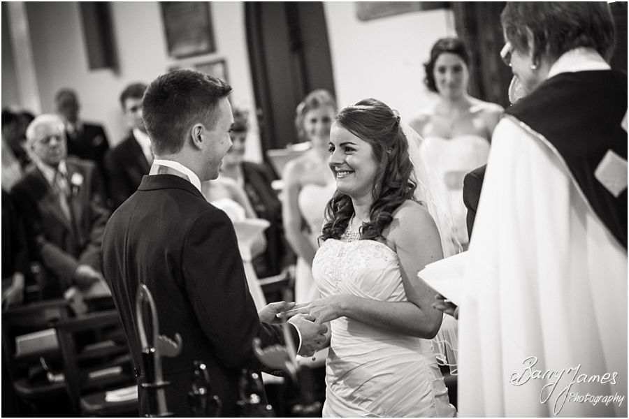 Contemporary creative wedding photography at St Thomas Church in Walton-on-the-Hill by Stafford Wedding Photographer Barry James