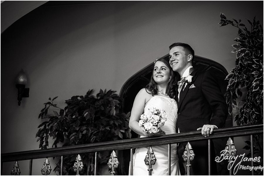 Creative portraits by Staffordshire wedding photographer at Hawkesyard Hall in Rugeley by Professional Master Wedding Photographer Barry James