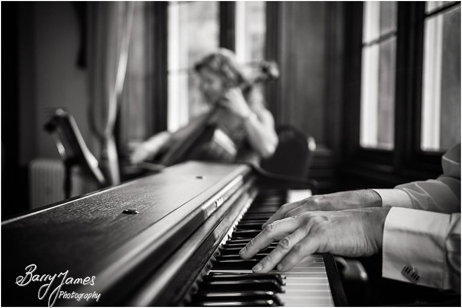 Finesse Piano and Cello at Hawkesyard Hall in Rugeley by Professional Master Wedding Photographer Barry James