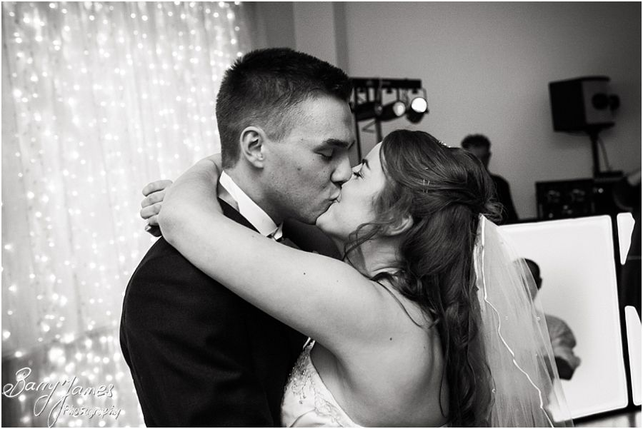 Creative photographs of first dance at Hawkesyard Hall in Rugeley by Reportage Wedding Photographer Barry James