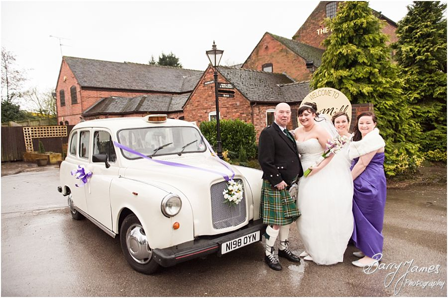 Civil wedding ceremony at The Mill in Worston by Rugeley Wedding Photographer Barry James