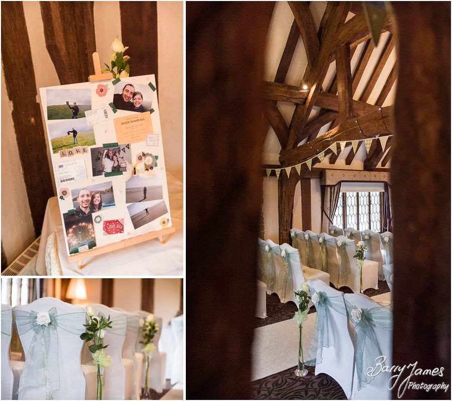 The Colin Lewis Suite set up for wedding ceremony at The Moat House in Acton Trussell by Stafford Wedding Photographer Barry James