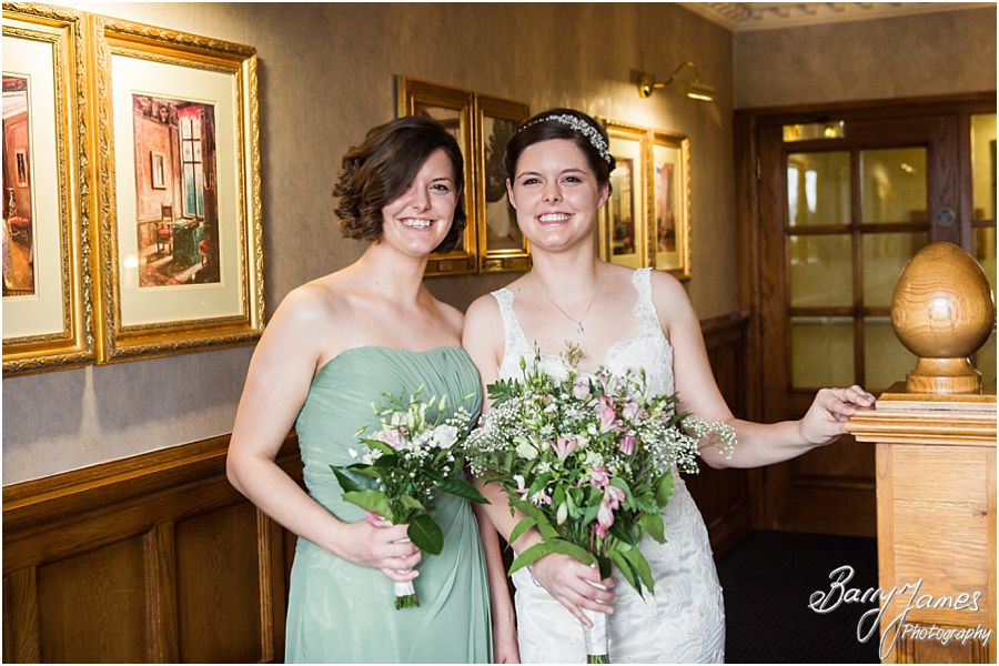 Beautiful relaxed portraits of bride and her bridesmaids at The Moat House in Acton Trussell by Stafford Wedding Photographer Barry James
