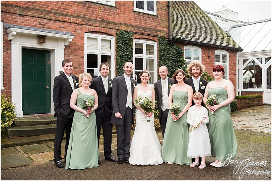 Relaxed family group photographs outside at The Moat House in Acton Trussell by Professional Wedding Photographer Barry James