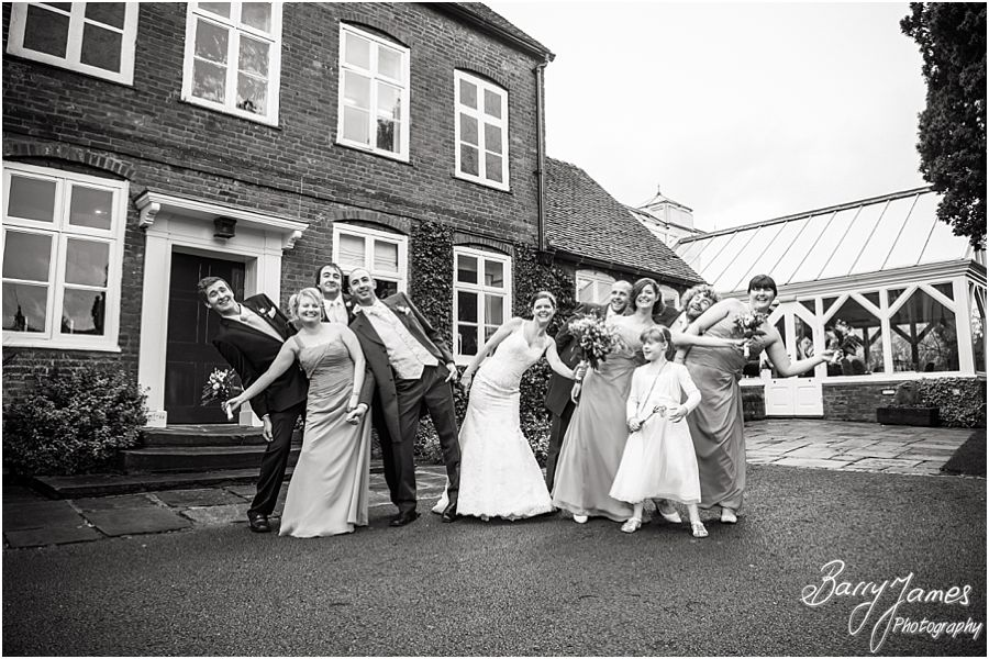 Creative contemporary wedding photographs at The Moat House in Acton Trussell by Professional Wedding Photographer Barry James