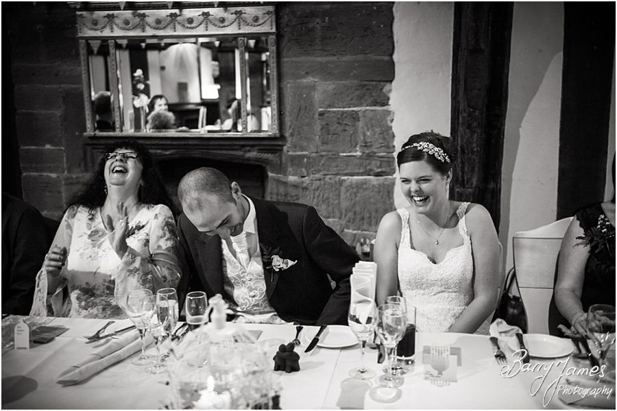 Candid photographs capturing the speeches and reactions at The Moat House in Acton Trussell by Creative Contemporary Wedding Photographer Barry James