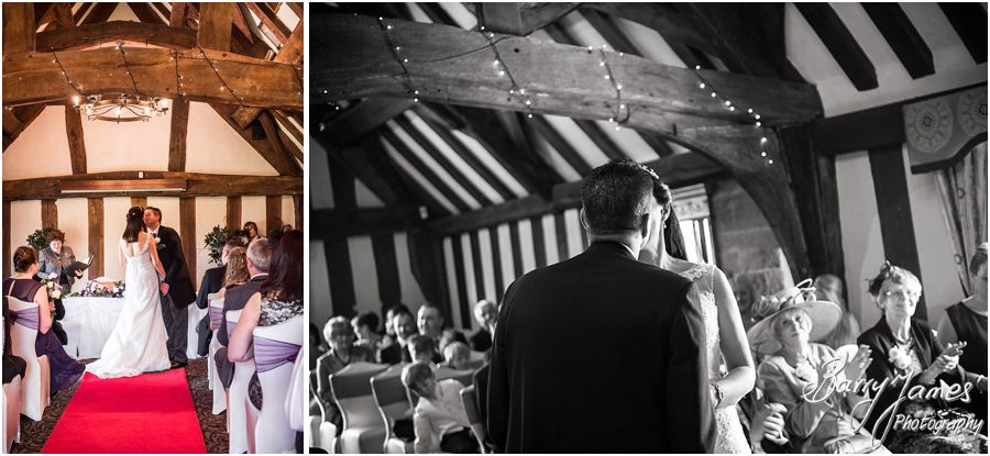 Unobtrusive reportage and storytelling wedding photography at The Moat House in Acton Trussell by Venue Recommended Wedding Photographer Barry James