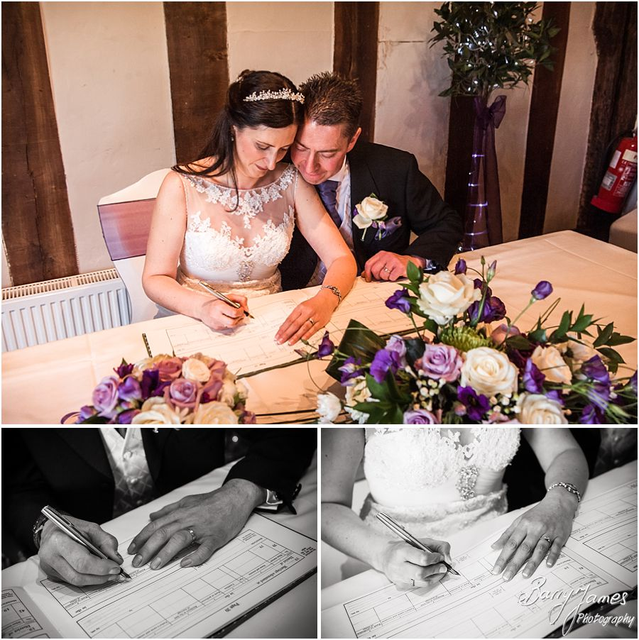 Professional wedding photographs that capture the drama, fun and emotion of a wedding at The Moat House in Acton Trussell by Award Winning Wedding Photographer Barry James