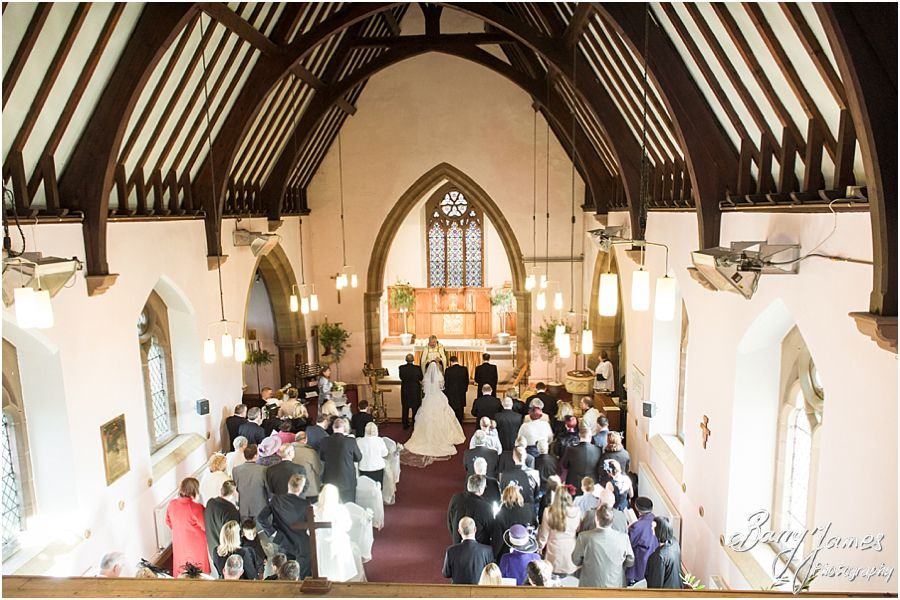 Contemporary and creative wedding photographs at St Pauls Church in Coven by Staffordshire Wedding Photographer Barry James