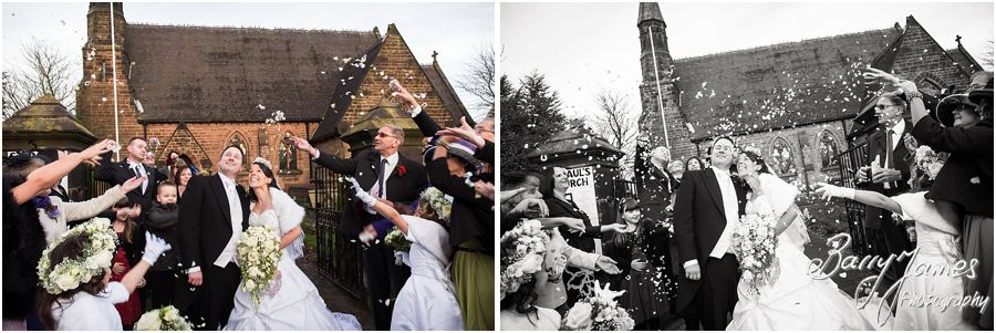 Award winning unobtrusive wedding photography at St Pauls Church in Brewood by Stafford Wedding Photographers Barry James