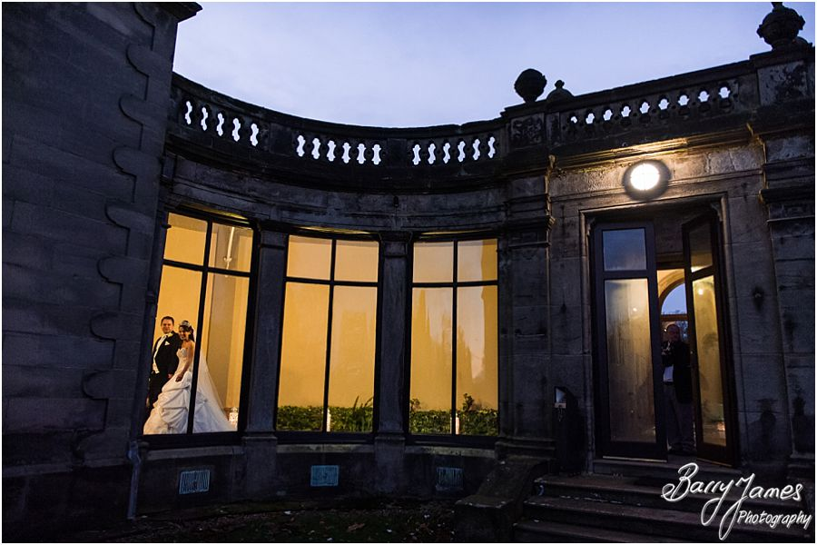 Beautiful relaxed winter wedding photographs at Sandon Hall in Stafford by Preferred Wedding Photographers Barry James