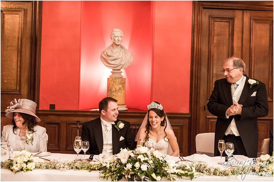 Traditional relaxed winter wedding photographs at Sandon Hall in Stafford by Staffordshire Wedding Photographers Barry James