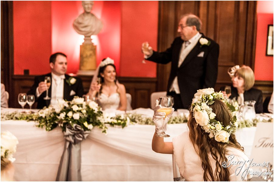 Elegant winter wedding photographs at Sandon Hall in Stafford by Traditional Wedding Photographers Barry James