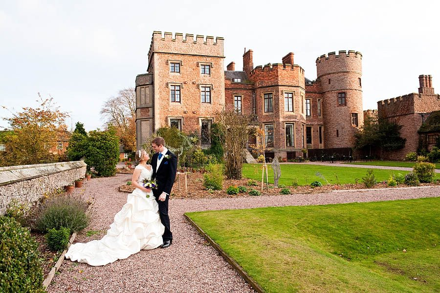 Modern stunning wedding photographs at Rowton Castle in Shropshire by Creative Wedding Photographer Barry James