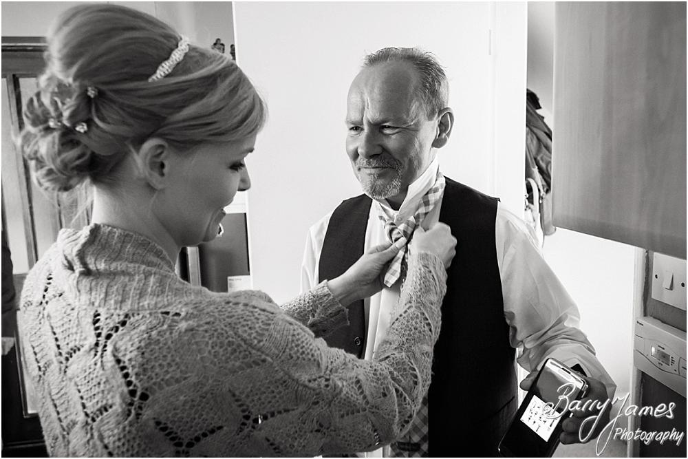 Candid photographs of the bridal preparations at Oak Farm Hotel in Cannock by Cannock Wedding Photographers Barry James