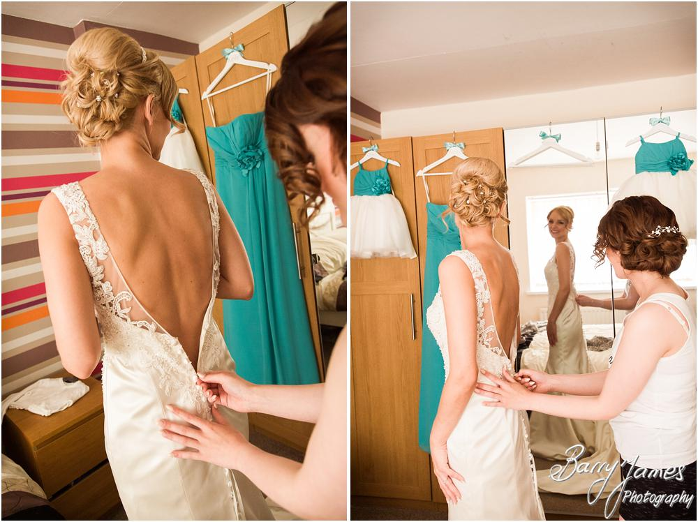 Capturing the finishing touches before the wedding at Oak Farm Hotel in Cannock by Cannock Wedding Photographers Barry James