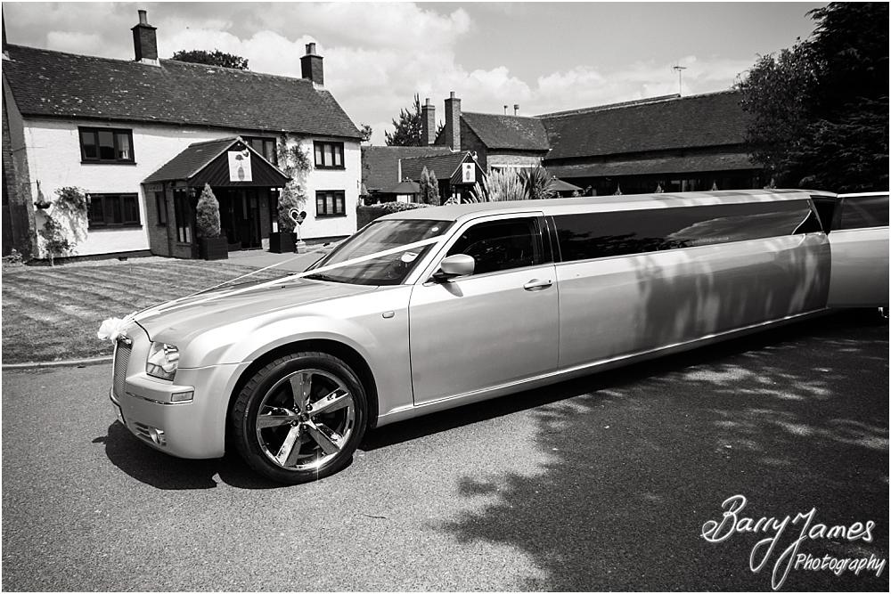 Capturing the bridal party arriving in style courtesy of Celebrity of Cannock at Oak Farm Hotel in Cannock by Cannock Wedding Photographers Barry James