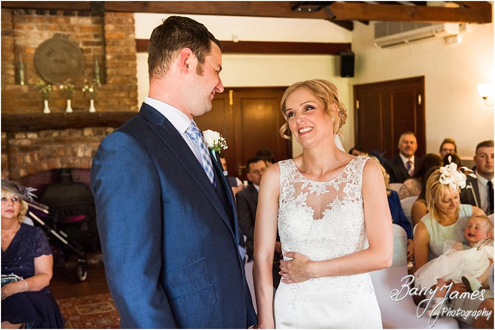 Beautiful unobtrusive photographs of the wedding ceremony at Oak Farm Hotel in Cannock by Cannock Wedding Photographers Barry James