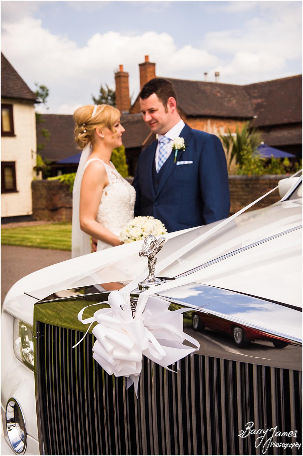 Stunning Rolls Royce for the Bride and Groom at Oak Farm Hotel in Cannock by Cannock Wedding Photographers Barry James